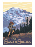 South Sister, Oregon - Hiking Scene Art by  Lantern Press