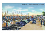 Tarpon Springs, Florida - Sponge Fleet in Harbor Posters by  Lantern Press