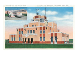 Oklahoma City, Oklahoma - Municipal Air Terminal Building Prints by  Lantern Press