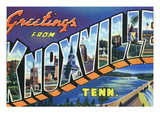 Knoxville, Tennessee - Large Letter Scenes Print by  Lantern Press