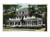 Deland, Florida - Lexington Hotel Exterior View Prints by  Lantern Press
