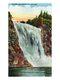 Quebec, Canada - Montmorency Falls Scene Prints by Lantern Press