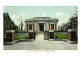 Auburn, New York - Case Memorial Library Exterior View Posters by  Lantern Press