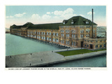 Sault Ste. Marie, Michigan - Power House Exterior, Longest in World Poster by  Lantern Press