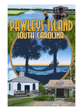 Pawleys Island, South Carolina - Montage Posters by  Lantern Press