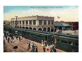 Venice, California - Electric Train Arriving Scene Prints by  Lantern Press