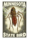 Mosquito - Minnesota State Bird Posters by  Lantern Press