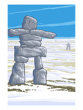 Inukshuk Posters by  Lantern Press