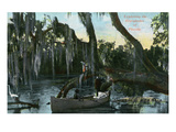 Florida - Boat Scene in the Everglades Prints by Lantern Press