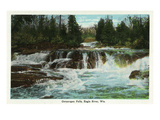 Eagle River, Wisconsin - Ontanogan Falls Scene Posters by  Lantern Press