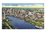 Tampa, Florida - Aerial View of the City Poster von  Lantern Press