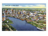 Tampa, Florida - Aerial View of the City Posters by  Lantern Press