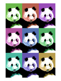 Panda Pop Art - Visit the Zoo Poster by  Lantern Press