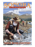 Sonora, California - Gold Miners Posters by Lantern Press