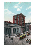 Rochester, New York - Nat'l Bank and Trust and Saft Deposit Co Bldgs Prints by  Lantern Press