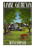 Lake Geneva, Wisconsin - Apple Harvest Prints by  Lantern Press