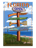 Tampa, Florida - Sign Destinations Prints by  Lantern Press