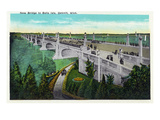 Detroit, Michigan - New Belle Isle Bridge Posters by Lantern Press