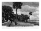 Daytona Beach, Florida - Beach Street View Poster von  Lantern Press