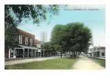 Kissimmee, Florida - View Down Broadway Art by  Lantern Press