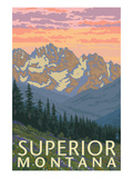 Superior, Montana - Spring Flowers Art by  Lantern Press