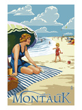 Montauk, New York - Beach Scene Prints by  Lantern Press