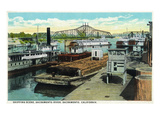 Sacramento, California - Sacramento River Shipping Scene Kunstdrucke von  Lantern Press