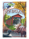 New England - Montage Scenes Art par Lantern Press