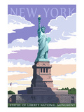 Statue of Liberty National Monument - New York City, NY Prints by  Lantern Press