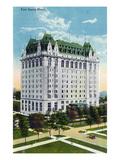 Winnipeg, Manitoba - Fort Garry Hotel Exterior Prints by  Lantern Press