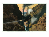 New Mexico - View of a Evening Train in Apache Canyon Between Las Vegas and Lamy Posters by  Lantern Press