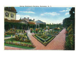 Rochester, New York - George Eastman's Gardens Print by  Lantern Press