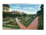 Rochester, New York - George Eastman's Gardens Print by  Lantern Press