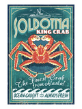 Soldotna, Alaska - King Crab Prints by Lantern Press