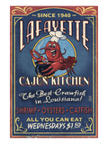 Lafayette, Louisiana - Cajun Kitchen Affiche par Lantern Press