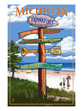 Frankfort, Michigan - Sign Destinations Print by  Lantern Press