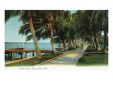 Palm Beach, Florida - View of the Lake Front Kunstdrucke von  Lantern Press