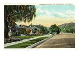 San Bernardino, California - View Along Arrowhead Avenue Posters by  Lantern Press