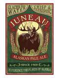 Juneau, Alaska - Moose Ale Prints by Lantern Press