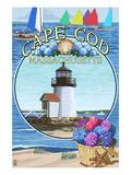 Cape Cod, Massachusetts - Montage Posters par  Lantern Press