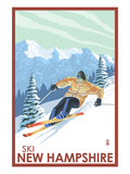 New Hampshire - Downhill Skier Prints by  Lantern Press