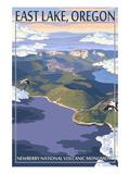 East Lake - Newberry Monument, Oregon Poster by  Lantern Press