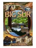 Big Sur, California - Montage Scenes Posters par  Lantern Press