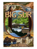 Big Sur, California - Montage Scenes Posters by  Lantern Press