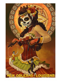 Dia De Los Muertos Marionettes - New Orleans, Louisiana Prints by Lantern Press