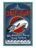 Camano Island, Washington - Salmon Poster by  Lantern Press