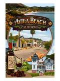 Avila Beach, California - Montage Scenes Posters by  Lantern Press