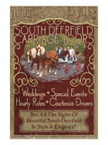 South Deerfield, Massachusetts - Carriage Tours Prints by Lantern Press