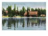 Lake Tahoe, California - Steamer Tahoe View of Tahoe Tavern, Casino Poster von  Lantern Press