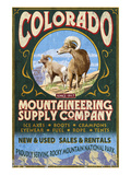 Mountaineering Supply - Rocky Mountain National Park Print by  Lantern Press
